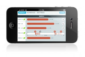 Nest energy history on iPhone