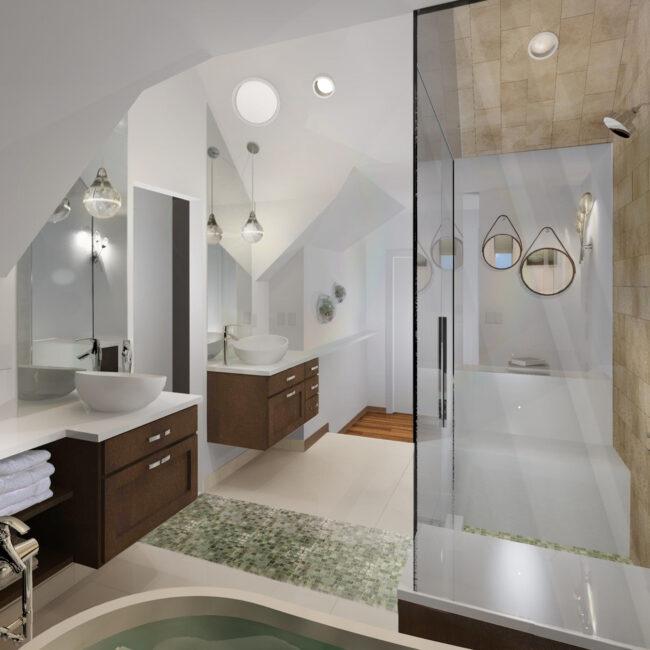 Primary Bath Remodel Rendering