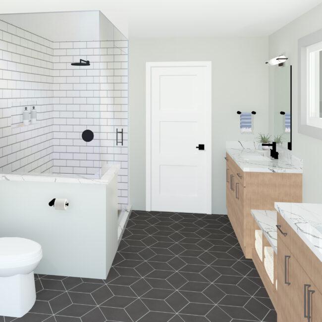 Primary Bathroom Rendering