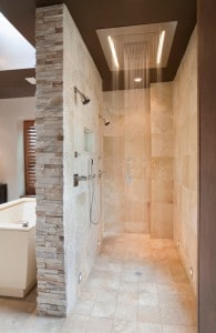 Spacious Multi-head Shower