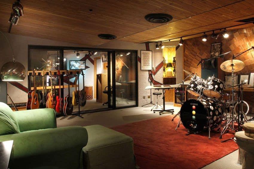 Melton Design Build Man Cave Music Studio