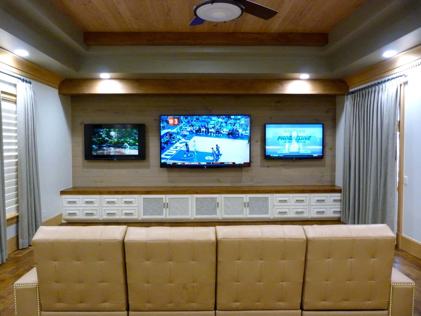Melton Design Build Man Cave TV