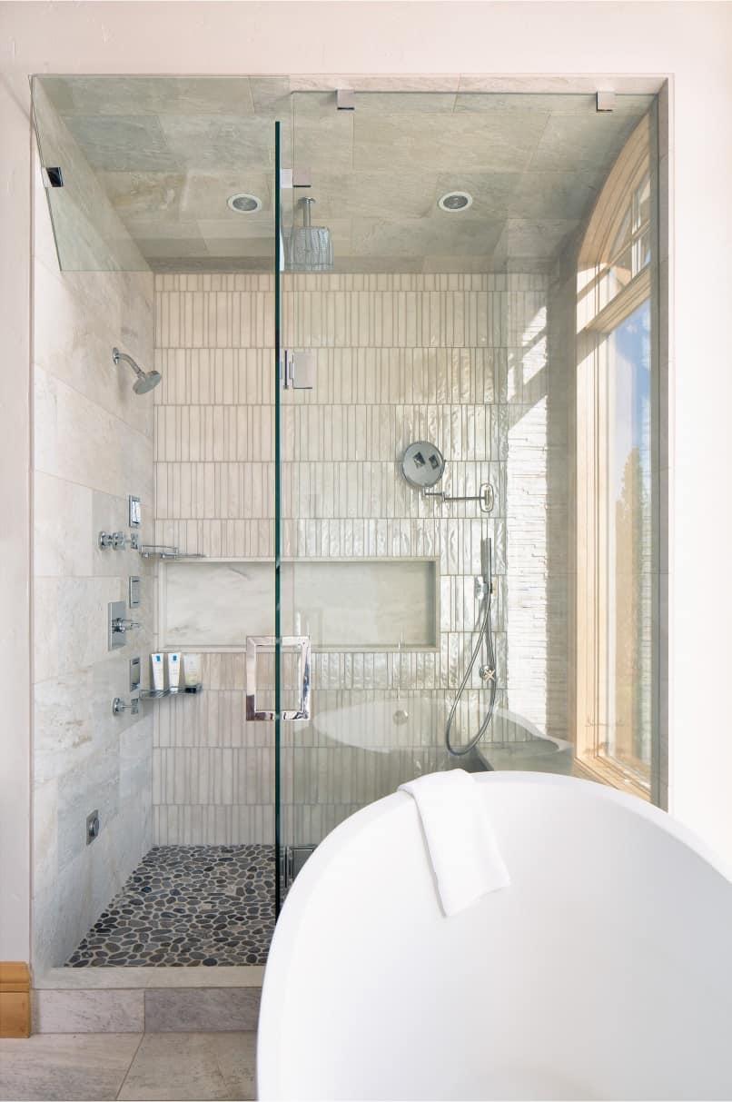 spalike bathroom remodeling project  melton design build