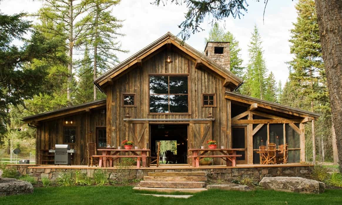 Melton Design Build Rustic Cabin Home