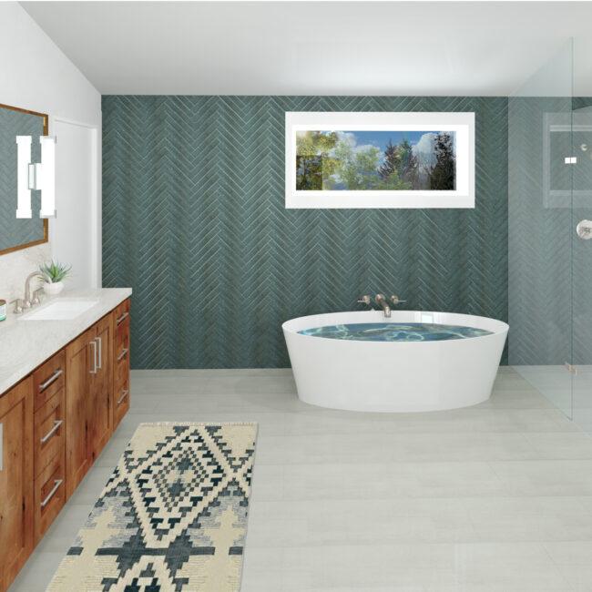 Custom Home Primary Bath Rendering