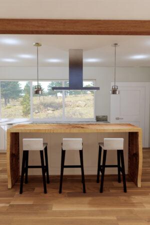 Custom Home Kitchen Rendering