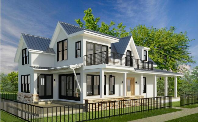 Exterior Custom Home Rendering