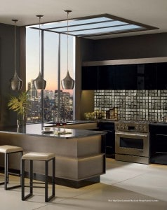 Kitchen with Ricci cabinetry and lighting