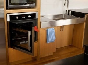 Accessible oven in kitchen