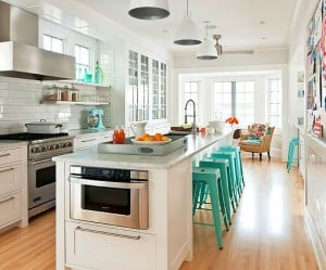 Universal design kitchen island