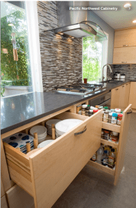 Kitchen organization for universal design