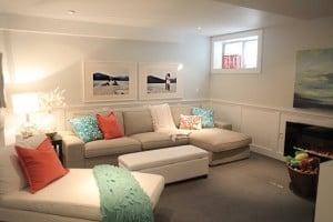 beach style basement remodel