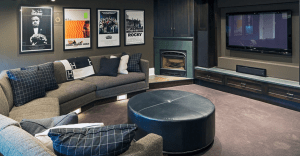 home theater basement remodel