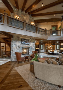 Rustic Living Space Open Floor Plan