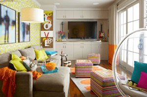 bright colors teen room