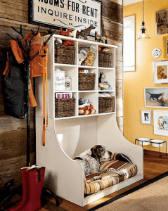 dog bed with built-in storage