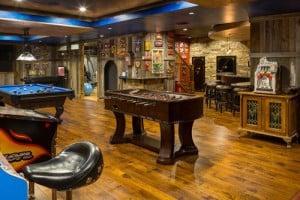 Rustic game room