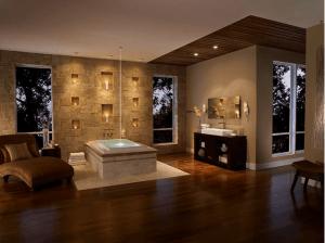 luxurious bath