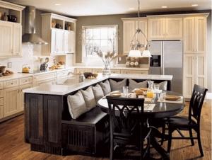mutli-sided kitchen island