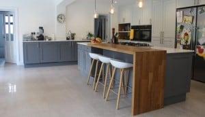 Modern Natural Kitchen Island