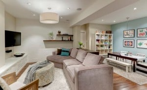 neutral palette basement