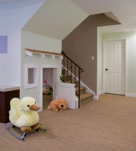 basement with play room for kids