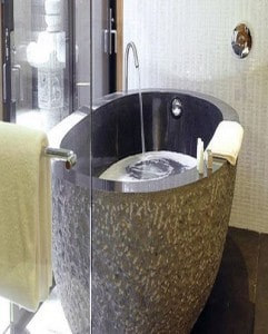 Oval Gray Soaking Tub