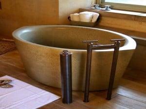 Polished Stone Soaking Tub