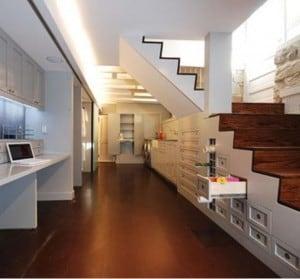 unique basement storage option