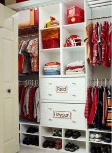 pinterest.com- Custom closet shelving