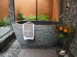 Rough Stone Soaking Tub