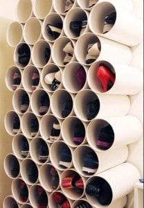 whowhatwear.com- PVC Pipe Shoe Storage