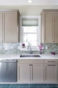 Gray Beige Kitchen Cabinets