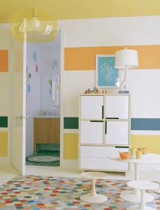 Houzz.com - Striped Kids Room - Orange and Yellow Design