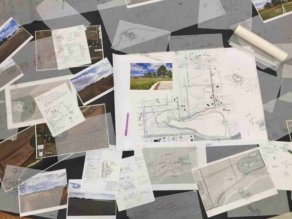 Schematic Design Concepts Trace Paper Overlays