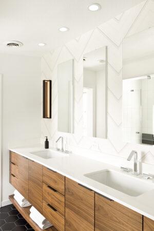 Modern Masculine Master Bathroom Remodel Melton Design Build Boulder Colorado