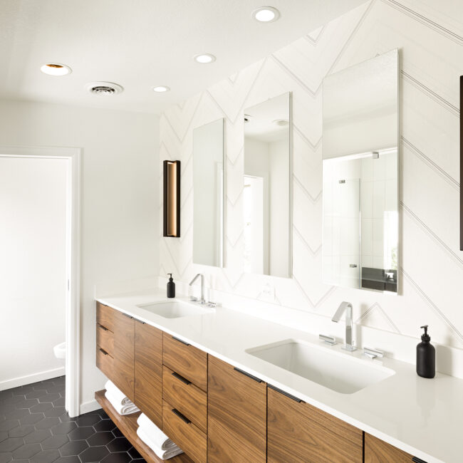 Modern Masculine Master Bathroom Remodel Melton Design Build Boulder Colorado