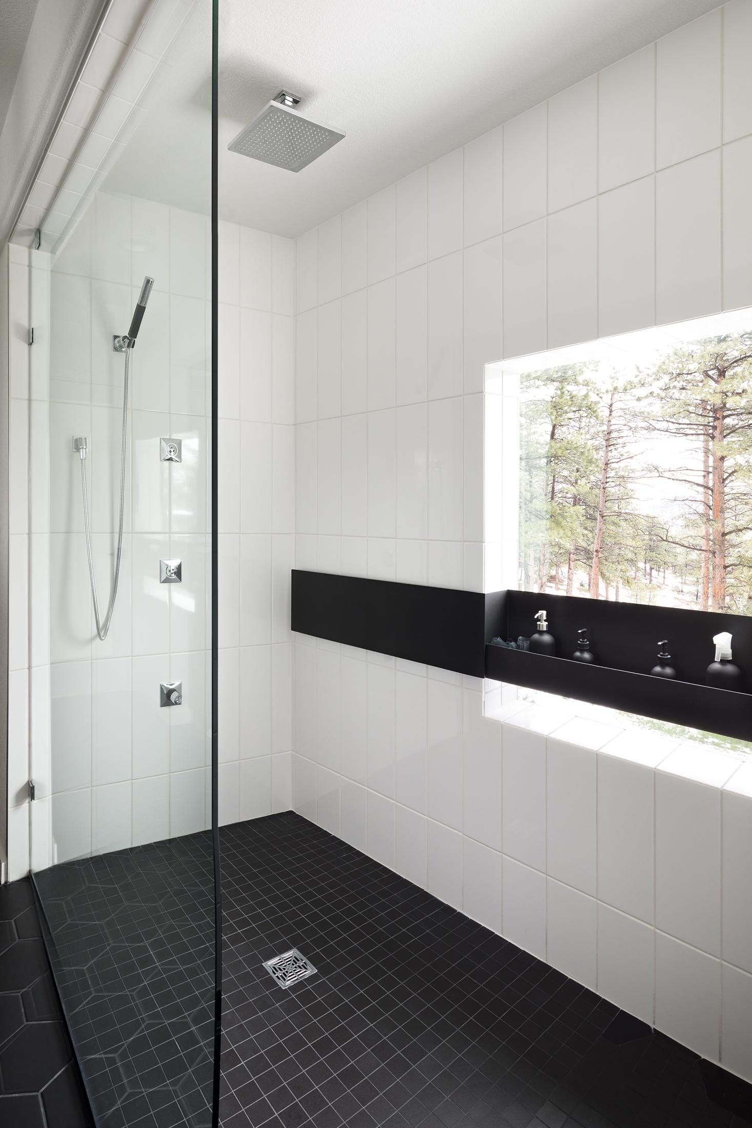 Modern Masculine Melton Design Build Boulder Colorado Master Bathroom Remodel