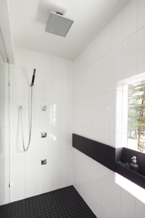 Modern Masculine Melton Design Build Boulder Colorado Master Bathroom Remodel
