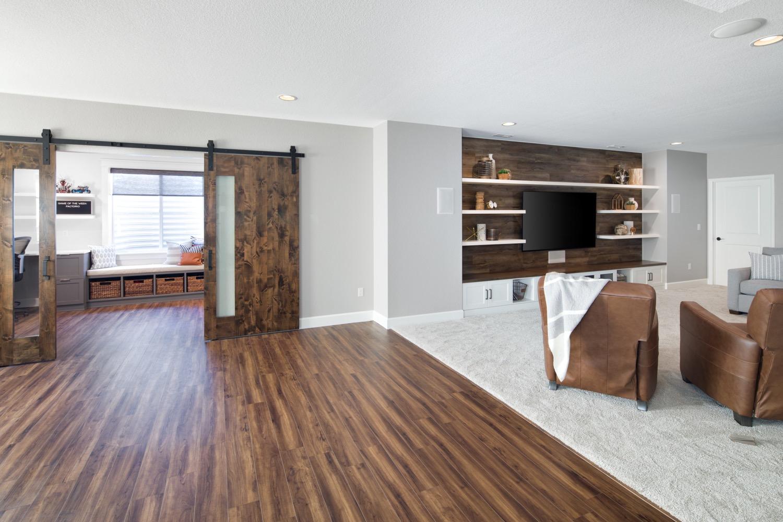 Contemporary Rustic Basement Remodel Boulder Colorado Melton Design Build