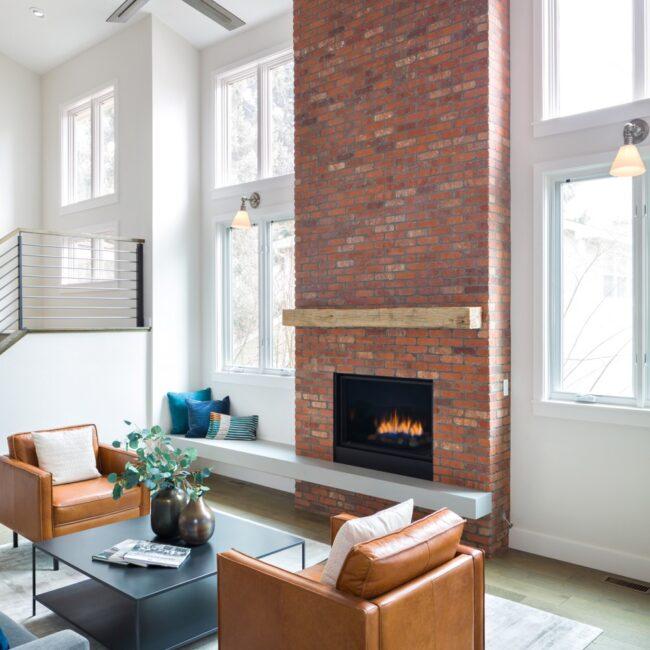 Melton Design Build Boulder Colorado Whole Home Remodel Fireplace