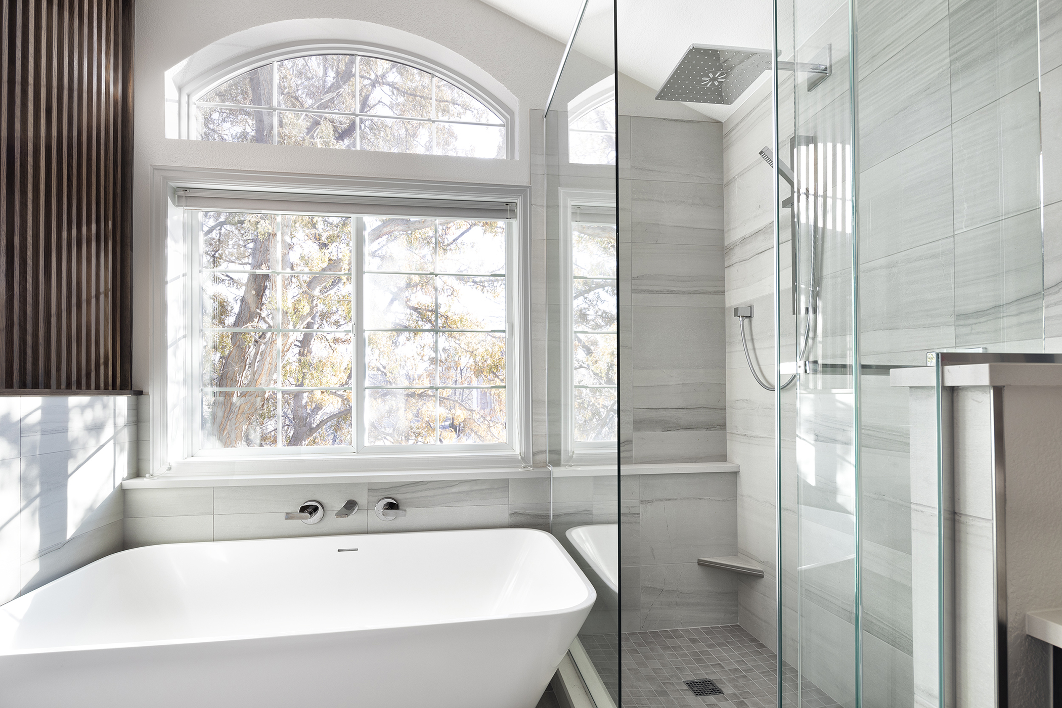Melton Design Build Boulder Colorado Home Remodeler Master Bathroom Remodel Renovation Serene Modern Eastern