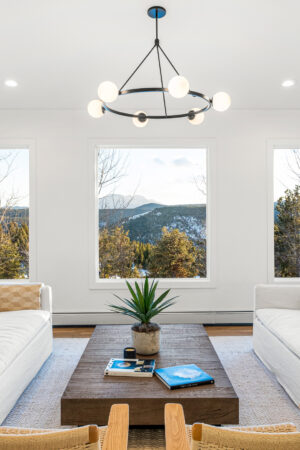 Custom Mountain Home - Living Room View