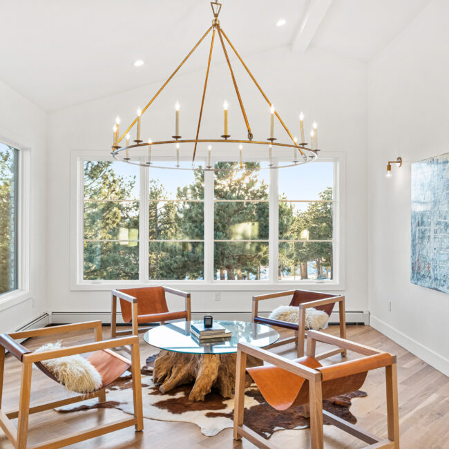 Custom Mountain Home - Sitting Room