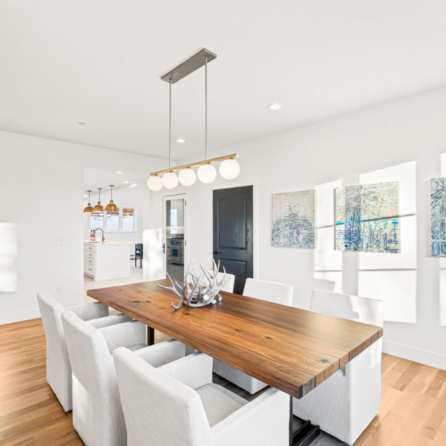 Custom Mountain Home - Dining Room to Kitchen