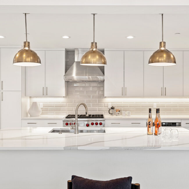 Custom Mountain Home - Kitchen Island Overview