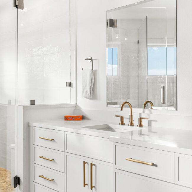 Custom Mountain Home - Primary Suite Vanity Detail