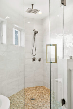 Custom Mountain Home - Primary Suite Shower Detail