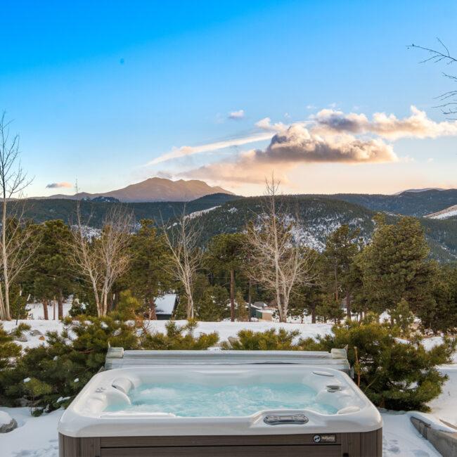 Custom Mountain Home - Hot Tub View 2