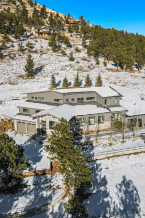 Custom Mountain Home - Home Arial View